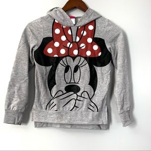 Disney Minnie Mouse High Low Hem Hoodie